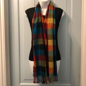 Colorful fall/winter scarf 12x66""